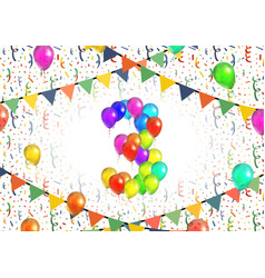 Number three made up from bright colorful balloons vector