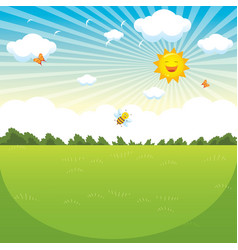 of green landscape vector image