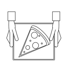 Pizza silhouette vector