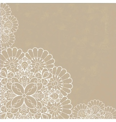 Retro background with lace ornament vector image