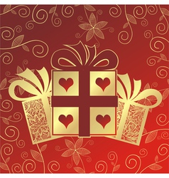 Romantic present vector image