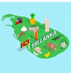 Sri Lanka map concept isometric 3d style vector image vector image