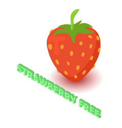 Strawberry allergen free icon isometric style vector