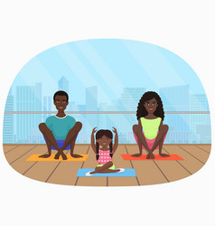 the black african family vector image