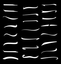 underline stroke set handmade stroke lines vector image