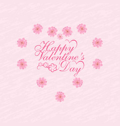 Valentine s day postcard in honor of vector