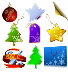 winter sale set vector image