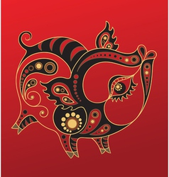 Chinese horoscope year of the pig vector