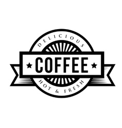 Vintage coffee sign or logo vector