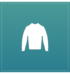 Clothing sweater pictogram vector