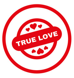 True love stamp seal rounded icon vector