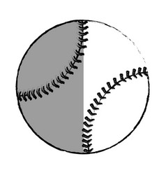 Ball baseball isolated icon vector