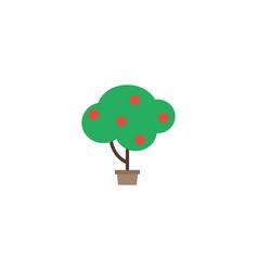 Flat fruit tree element of vector
