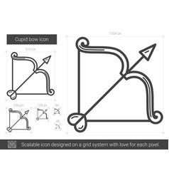 Cupid bow line icon vector