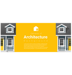 Architecture background with a small house vector