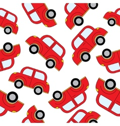Cartoon cars seamless pattern template for design vector