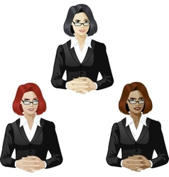 Female lawyer support expert vector