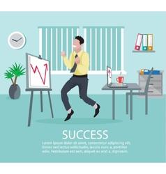 Successful Business Idea Poster vector image