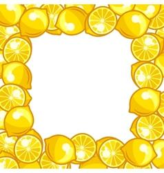 Background design with stylized fresh ripe lemons vector image