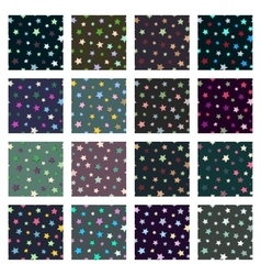 Set of seamless stars patterns vector