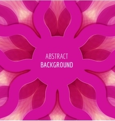 Abstract pink circle waves background with banner vector