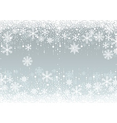 Snowflakes winter background vector