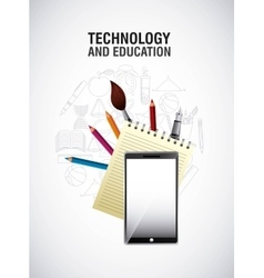 Technology and education design vector