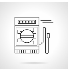 Digital multimeter flat line icon vector