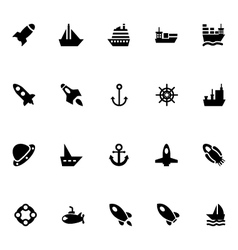 Aircraft and ships icons 1 vector