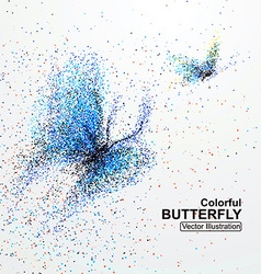 Colorful butterfly particles vector
