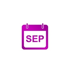 Simple calendar modern design flat style icon vector