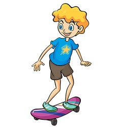 A boy playing skateboard vector image