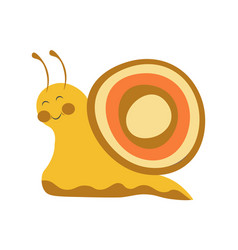 adorable snail with colorful shell and long vector image vector image