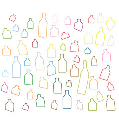 Alcoholic bottles silhouettes vector