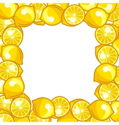 Background design with stylized fresh ripe lemons vector image