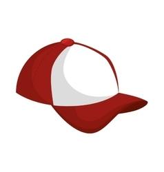 baseball cap icon design vector image vector image