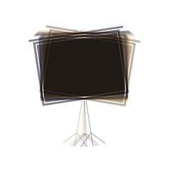 Blank projection screen colorful icon vector