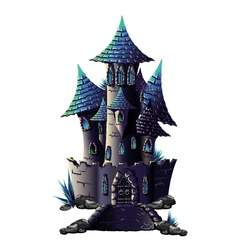 Dark castle vector