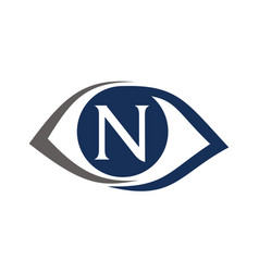 eye care solutions letter n vector image