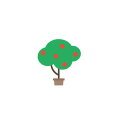 Flat fruit tree element of vector