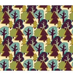 Forest color seamless pattern vector image vector image