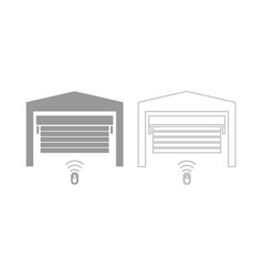 Garage door set icon vector