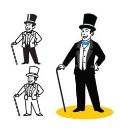 Gentleman Cartoon vector image vector image