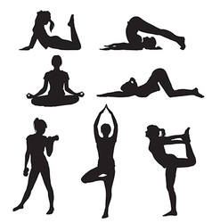 girl yoga vector image vector image