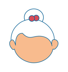 Grandmother face cartoon vector