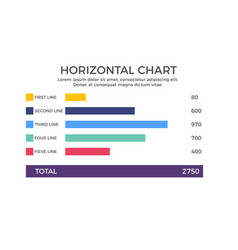 Horizontal chart infographic element vector