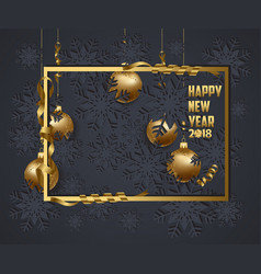 Luxury elegant merry christmas and happy new year vector