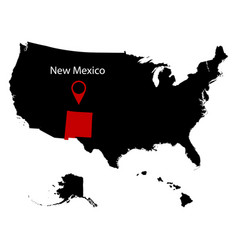 Map of the us state of new mexico vector