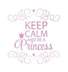 Princess crown background vector