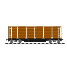 Railway wagon isolated on white background vector image